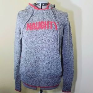 VS Naughty Nice Hoodie Knit Sweater Pullover M